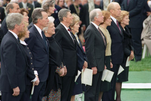 Five Presidents - Clinton, Bush I, Reagan, Carter, Ford sports politics finance