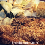 Tilapia Cabbage & Cornbread brendaslunch lunch dinner healthyeats healthyeating lunchideas dinnerideas