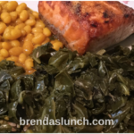 Salmon Beans & Collards! brendaslunch healthyeating healthyeats lunchindeas dinnerideas