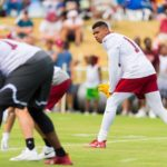 WR Terrelle Pryor Sr Lining Up in Training Camp 2017 [Photo Courtesy: www.redskins.com]